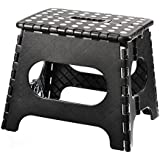 Home-it Super quality Folding Step Stool great for kids and adults 11 Inches. Black, holds up to 300 LBS