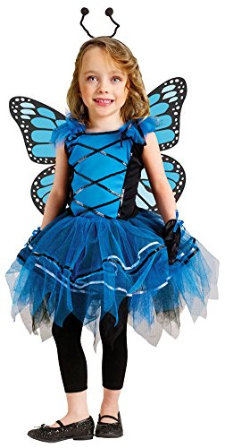 Baby Girls - Ballerina Butterfly Blue Toddler Halloween Costume