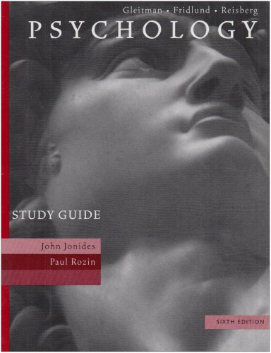 Study Guide to Accompany Psychology, Sixth Edition, Gleitman,Henry