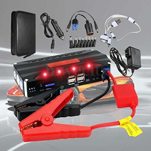 Mannot Racing - 12V 68800 mAh 4 USB Multi-Function Car Jump Starter Power Bank Rechargable Battery TFP0005 (Flamethrower Kit Dual Exhaust compare prices)