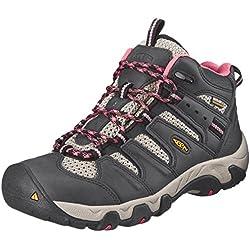 KEEN Women's Koven Mid WP Hiking Boot, Raven/Slate Rose