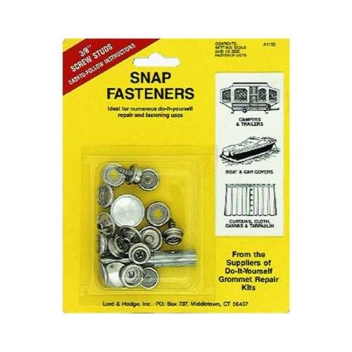 Screw Stud Snap Fastener Kit 1110