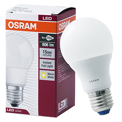 Osram CL A 70 E27 9W LED Bulb (Warm White)
