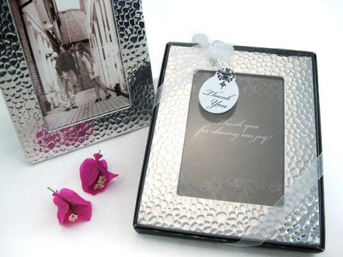 Capture Elegance Photo Frame Favor in Brilliant Hammer Finish (12 Pack) - Wedding and Party Favor Keepsake Giveaway
