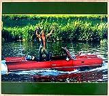 BLECHSCHILD Schwimmwagen Schwimmauto Amphicar ca. 33 x 39 cm