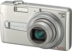 Fujifilm Finepix J50 8.2MP Digital Camera with 5x Optical Zoom (Brushed Silver)