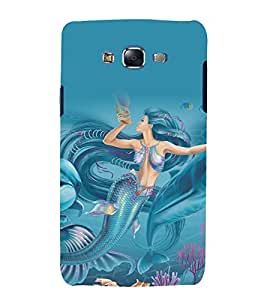 printtech Underwater Mermaid Back Case Cover for Samsung Galaxy J7 (2016 )