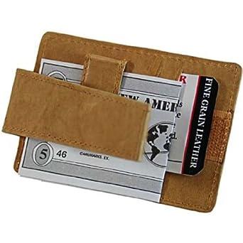 Marshal Leather Zipper Change Purse Money Clip #2262CF
