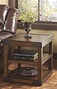 Signature Design by Ashley Brown Rectangular End Table