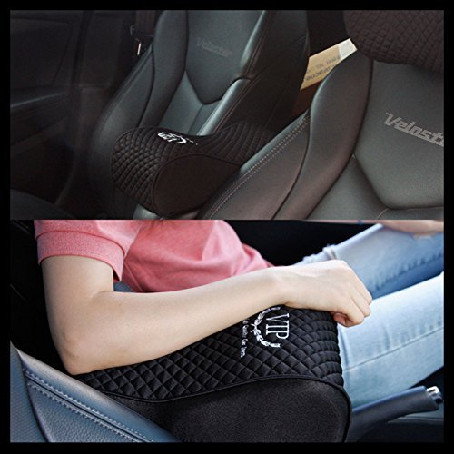 vip luxury black memoryform car seat cushions armrest center consoles cushion pillow pad for car. Black Bedroom Furniture Sets. Home Design Ideas