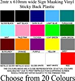 2 METRE x 610mm WIDE ROLL SIGN MAKING VINYL STICKY BACK PLASTIC CHOOSE FROM 20 COLOURS (DARK BLUE)