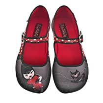 080864bb82f1 Hot Chocolate Design Chocolaticas Petunia Women Mary Jane Flat  Multicoloured US Size  6