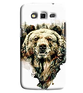 Blue Throat Wolf Printed Designer Back Cover/Case For Samsung Galaxy Grand 2