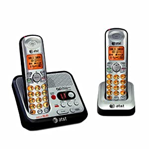 AT&T EL52200 DECT 6.0 Expandable Cordless Phone with Answering System and Caller ID/Call Waiting, 2 Handsets, Silver/Black