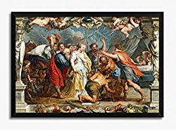 Artangle Rubens, Peter Paul (and Workshop) - Briseida devuelta a Aquiles por Nestor, 1630-35 Framed Poster