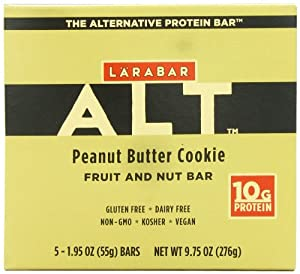 Larabar Alt Gluten Free Fruit & Nut Protein Bar, Peanut Butter Cookie, 5 - 1.95 Ounce Bars