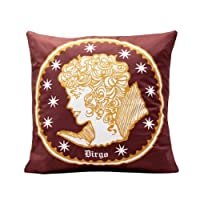 "The Bombay Store Cotton Cushion Cover - Virgo (Set Of 1pc) L 16"" H 16"""