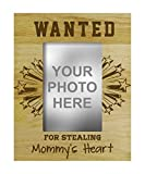 recherchés pour avoir volé cadre photo de coeur de cadeau personnalisé de maman -4 x 6 pouces vertical