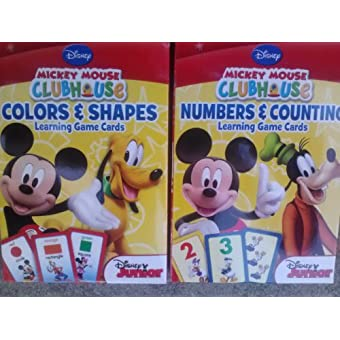 Disney Mickey Mouse Clubhouse Flash Cards (Set of 2 Decks
