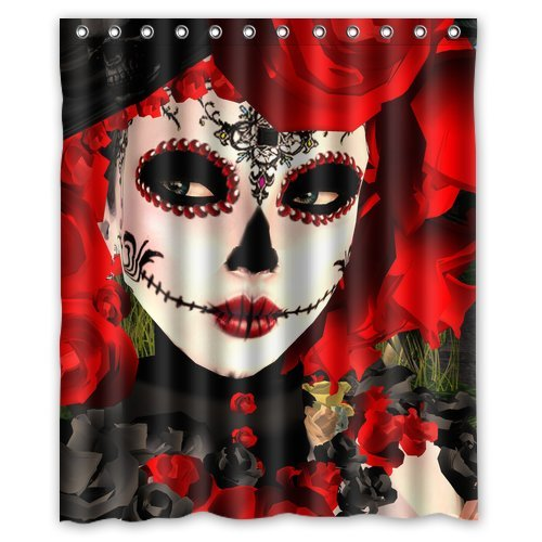 Custom Dia De Los Muertos Waterproof Polyester Fabric