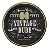 Creative Converting 8 Count Vintage Dude 60th Birthday Round Dessert Plates