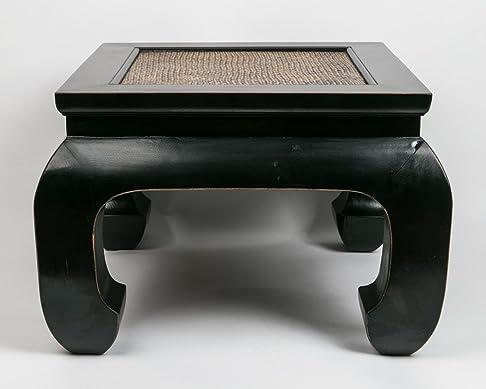 Tavolino da caffè cinese mobili tavolino con Sidetable intrecciato Bamboo Yuwood nero orientale asiatico soggiorno Decor interior tabelle
