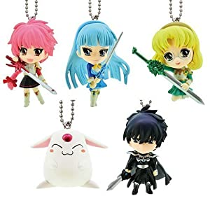Gashapon Magic Knight Rayearth Swing Key Chain Set (of 5)
