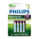 4 x Philips AAA Rechargeable Batteries 700mAh - BT Graphite 1100 1500 2100 2500