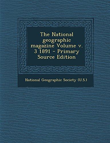 The National geographic magazine Volume v. 3 1891