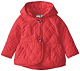 Widgeon Baby Girls Quilted Nylon Peplum Jacket, Red, 18 Months