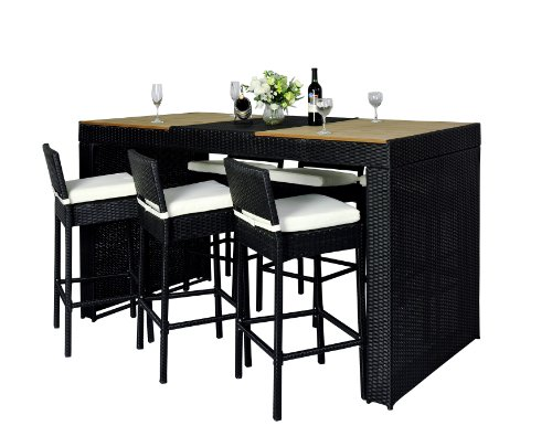 Polyrattan gartenm bel 13 tlg rattan gartenset bar for Exclusive barhocker