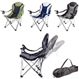 Sports Padded Seat & Backrest Reclining Camp Chair