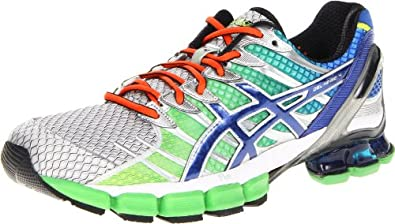 ASICS Men's GEL-Kinsei 4 Running Shoe,Lime/Royal/Lightning,11 M US