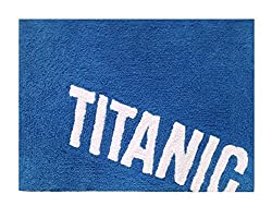 MODERN HOMES Blue Titanic Cotton Bath Mat