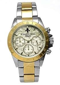 [ROMEO GIGLI] ロメオジリ 腕時計 ウォッチ 10気圧防水 クロノグラフ レトロ アンティーク ビジネス カジュアル romeo003-cbgd メンズ [並行輸入品]