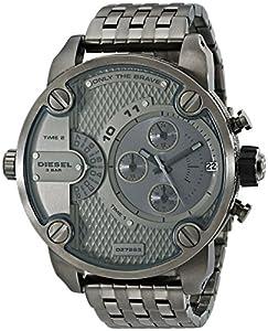 Diesel - DZ7263 - Montre Homme - Quartz Chronographe - Chronomètre/ Aiguilles lumineuses - Bracelet Acier Inoxydable Plaqué Gris