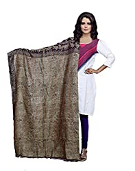 IndiWeaves Women's Silk Kantha Work Shawl