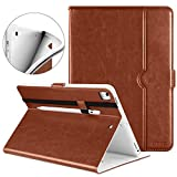DTTO iPad 9.7 Inch 5th/6th Generation 2018/2017 Case with Apple Pencil Holder, Premium Leather Folio Cover Case for Apple iPad 9.7 inch [Auto Sleep/Wake], Also Fit iPad Pro 9.7/Air 2/Air - Brown (Color: Brown(White lining), Tamaño: 9.7 Inch)