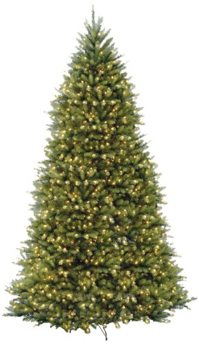 national tree duh 100lo s dunhill fir hinged tree with 1200 low voltage dual