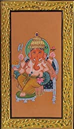 Auspicious Painting of Lord Ganesha, Paper Painting