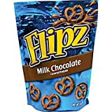 Flipz, Milk Chocolate Covered Pretzels, 5oz Bag Bag (Pack of 4)