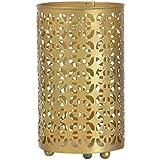 Noble Art & Craft House Iron Cutwork Candle Holder (13 Cm X 13 Cm X 23 Cm, Golden)