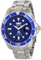 Invicta Pro Diver Unisex Automatic Watch with Purple Dial  Analogue display on Silver Stainless Steel Bracelet 3045