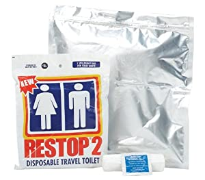 Restop 2 Disposable Human Waste Bags, 24 Bags