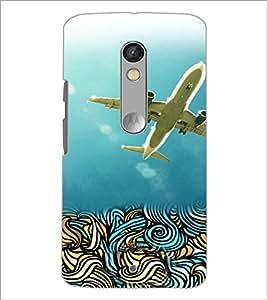 PrintDhaba Aeroplane D-4222 Back Case Cover for MOTOROLA MOTO X PLAY (Multi-Coloured)
