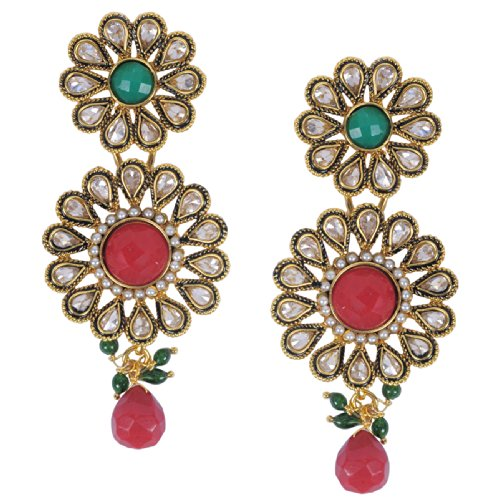 Luxor Exquisite Red Topaz Earrings for women ER-1036 (multicolor)