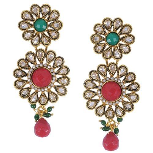 Luxor Exquisite Red Topaz Earrings for women ER-1036 (multicolor)