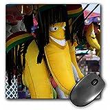 3dRose 8 x 8 x 0.25 Inches Yellow Rasta Banna Mouse Pad (mp_156189_1)