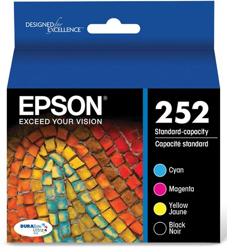 Epson T252120-BCS DURABrite Ultra Black and Color Combo Pack Standard Capacity Cartridge Ink