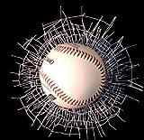 Wild Clings Shatter Baseball 3-D Decal Gift